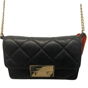 Michael Kors - Black Quilted Leather Sloan Crossbo